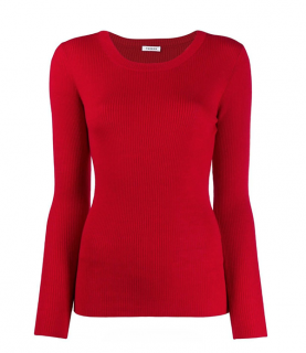 P.A.R.O.S.H. Wool Slim-fit Ribbed Open Back Jumper