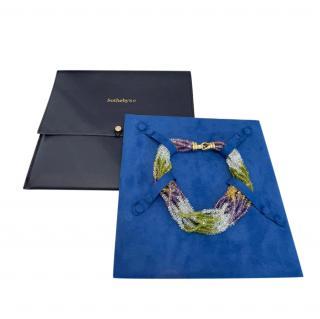 Bespoke Amethyst, Peridot, Citrine & Aquamarine 18kt Gold Necklace