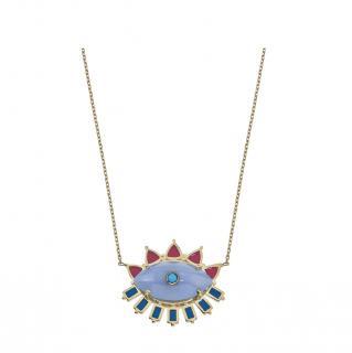 Aaron Basha Melissa Chalcedony Evil Eye Necklace