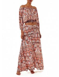 Melissa Odabash Paisley Print Anne Off-Shoulder Top & Daisy Skirt