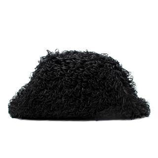 Bottega Veneta The Sponge Black Leather Pouch