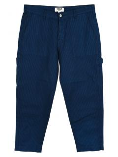 YMC Striped Wide-Leg Cotton & Linen Trousers