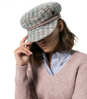 Maison Michel Pastel Tweed Baker Boy Cap