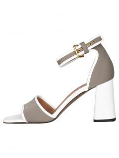 Marni Taupe/White Neoprene Sandals