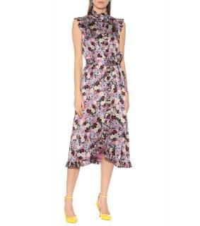 Erdem Floral Print Ruffled Sebia Dress