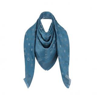 Louis Vuitton Blue Monogram So Shine Shawl