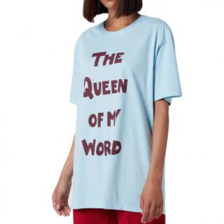 Bella Freud The Queen Of My World Oversized Organic Jersey T-Shirt