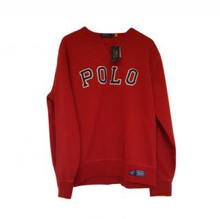 Polo Ralph Lauren Red Embroidered Sweatshirt