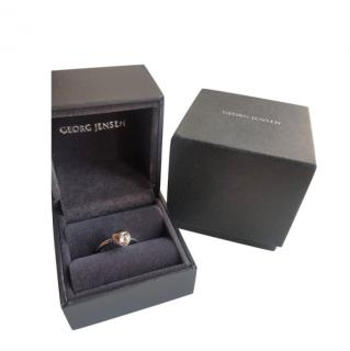 Georg Jensen Silver Diamond Cave Ring
