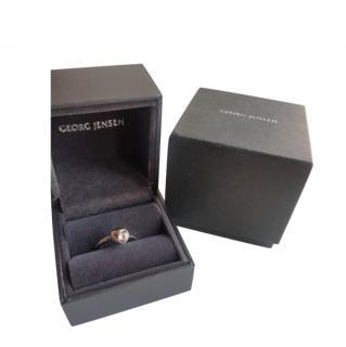 Georg Jensen 18ct White Gold Diamond Cave Ring