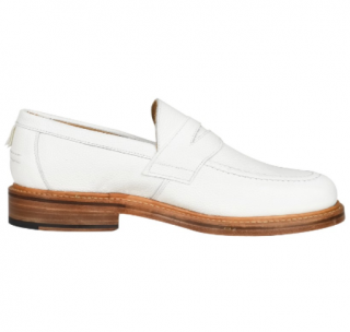 Mackintosh Men's White Leather Loafers