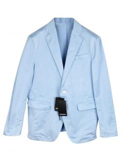 DSquared2 Single Breasted Pale Blue Tailored Jacket.