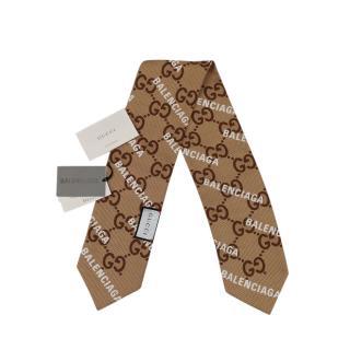 Gucci x Balenciaga Logo Print Supreme Monogram Twilly