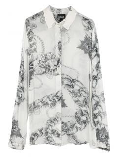 Just Cavalli Monochrome Chain/Medallion Print Shirt