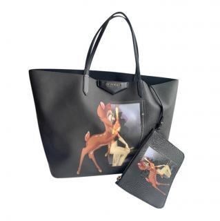 Givenchy large black leather Bambi Antigona tote bag