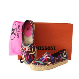 Missoni mulit coloured canvas espadrilles
