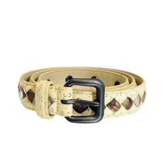 Bottega Veneta Intrecciato Leather Belt - Size 80