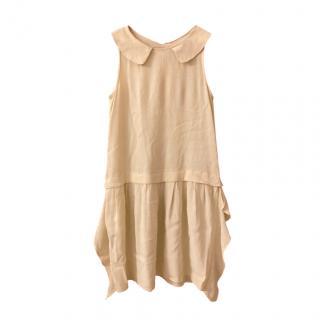 Simonetta Kids 10Y Yellow Drop Waist Dress