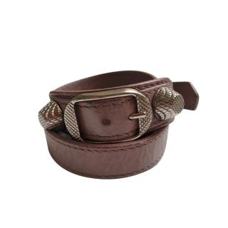 Balenciaga Leather Triple Tour Rockstud bracelet