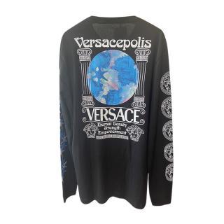 Versace Men�s M Versacepolis Printed LS T-Shirt