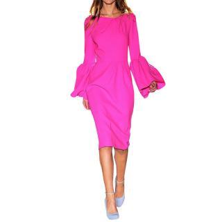 Roksanda Pink Runway Bell Sleeve Dress
