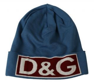 Dolce & Gabbana Men's Blue D&G Beanie