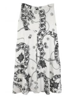 Just Cavalli Monochrome Printed Skirt