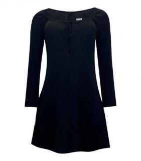 Reformation Black Key-Hole Mini Dress