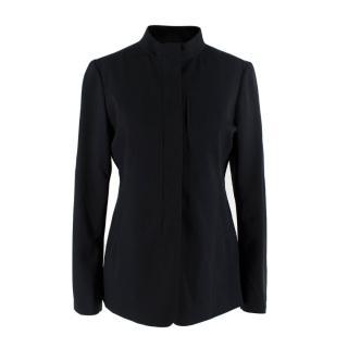 Jil Sander Black Wool Collarless Jacket