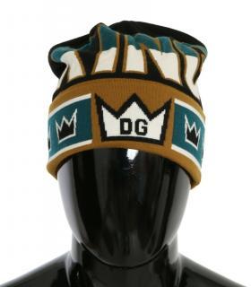 Dolce & Gabbana Men's multi colour wool beanie hat