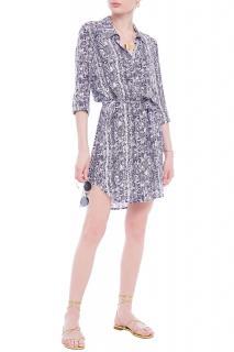 Heidi Klein Blue Snake Print Shirt Dress/Cover-Up