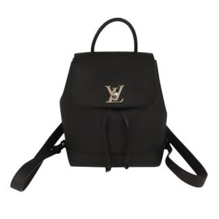 Louis Vuitton Black Leather LockMe Backpack