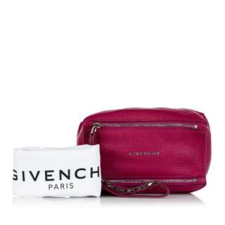 Givenchy Raspberry Pink Mini Pandora Leather Clutch Bag