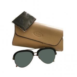 Tod's Black Aviator Sunglasses