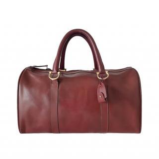 Cartier Bordeaux Leather Must De Line Boston Bag