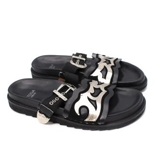 Toga Virilis Leather & Nylon Men's Buckle Sandals
