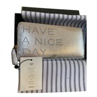 Anya Hindmarch Silver 'Have a Nice Day' Wallet