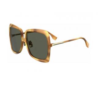 Fendi Honey Havana Oversize Sunglasses