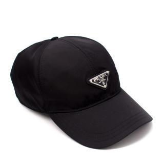 Prada Black Nylon Baseball Cap - Men's L