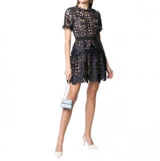 Self-Portrait scallop-edge Lace Mini Dress