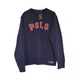 Polo Ralph Lauren Blue Embroidered Sweatshirt
