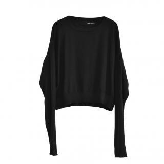 Isabel Benenato black wool jumper