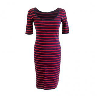 Ralph Lauren Two-Tone Striped Dress