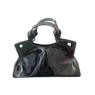 Cartier Black Patent Leather Tote Bag