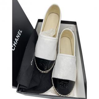 Chanel Glossy Cap-Toe Sequin Espadrilles