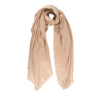 Louis Vuitton Monogram Dune Silk & Wool Shawl