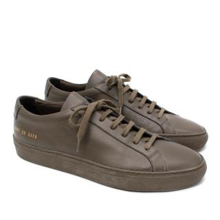 Common Projects Khaki Low Sneakers