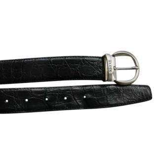 Gianfranco Ferre Black Crocodile Leather Belt - Size 110