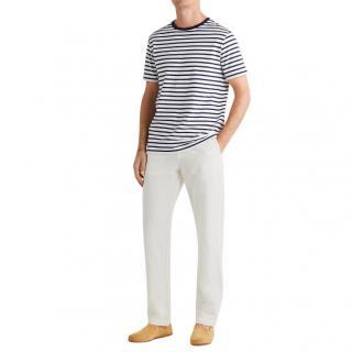 Orlebar Brown Almond Telford Linen Blend Trousers