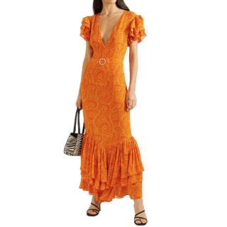 De La Vali Apolonia Ruffle Hem Dress